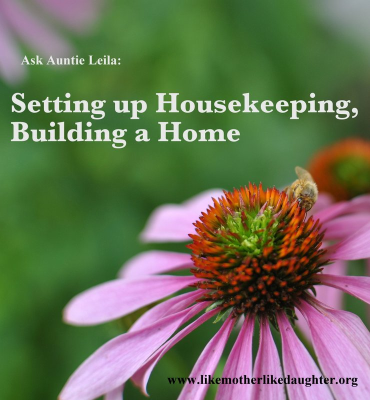 Setting Up Housekeeping, Like Mother, Like Daughter Blog