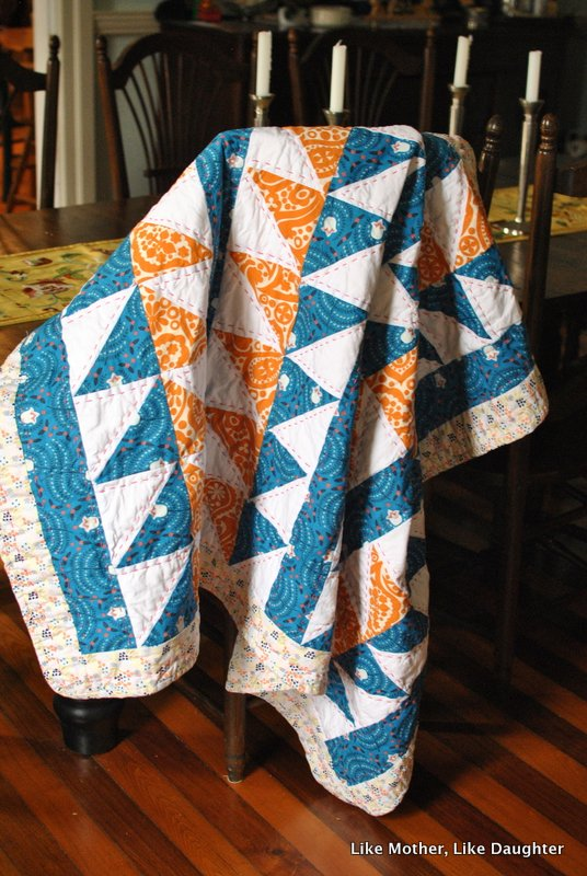 Flying Geese Quilt -- Like Mother, Like Daughter