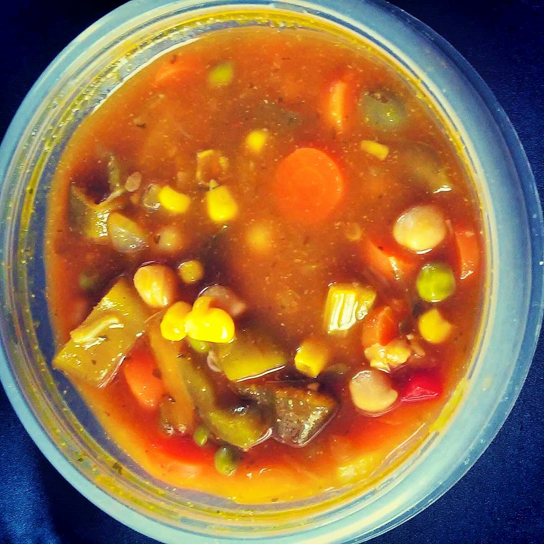 Do you have too many bags of frozen veggies in your freezer? Clean out your freezer with this homemade vegetable soup.