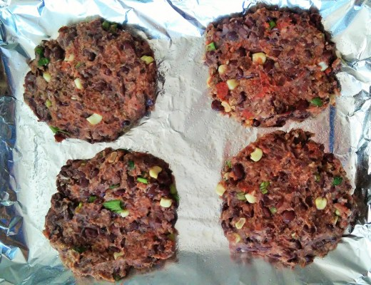 Spicy black bean burgers for the win.
