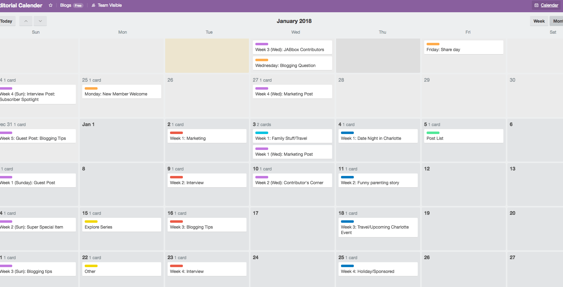 Creating an editorial calendar like sarabut with a d using trello is a great way to create an amazing dynamic editorial calendar that is buycottarizona