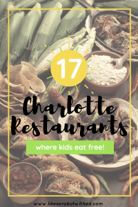 Here is a list of places where you can score a free meal for your kid in Charlotte, NC. Who says a night out has to cost a fortune.