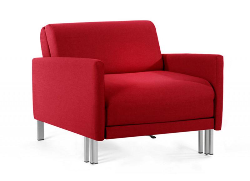 fauteuil lit francais 1 place boss 70 large accoudoirs amovibles