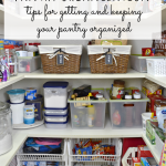 simple tips for getting and keeping your pantry organized