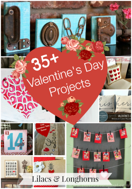 35 plus Valentine's Day projects.