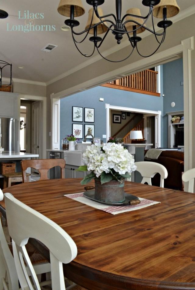 oval farmhouse table