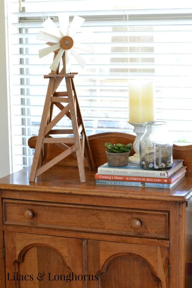 rustic table vignette