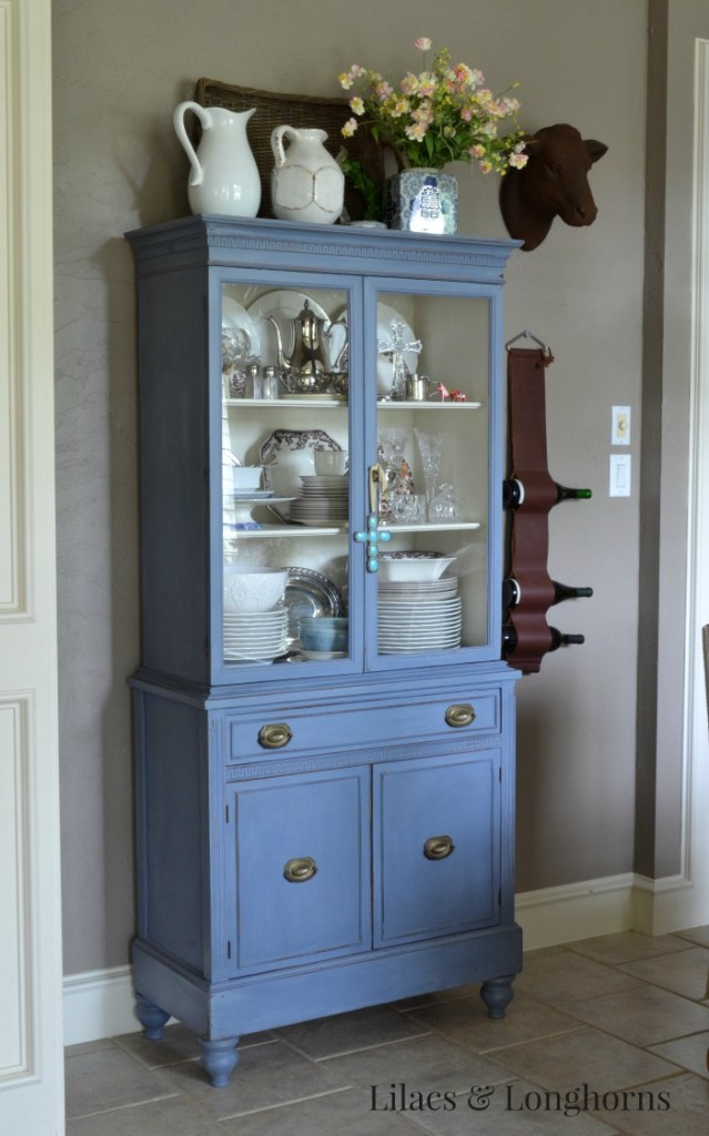 blue china hutch