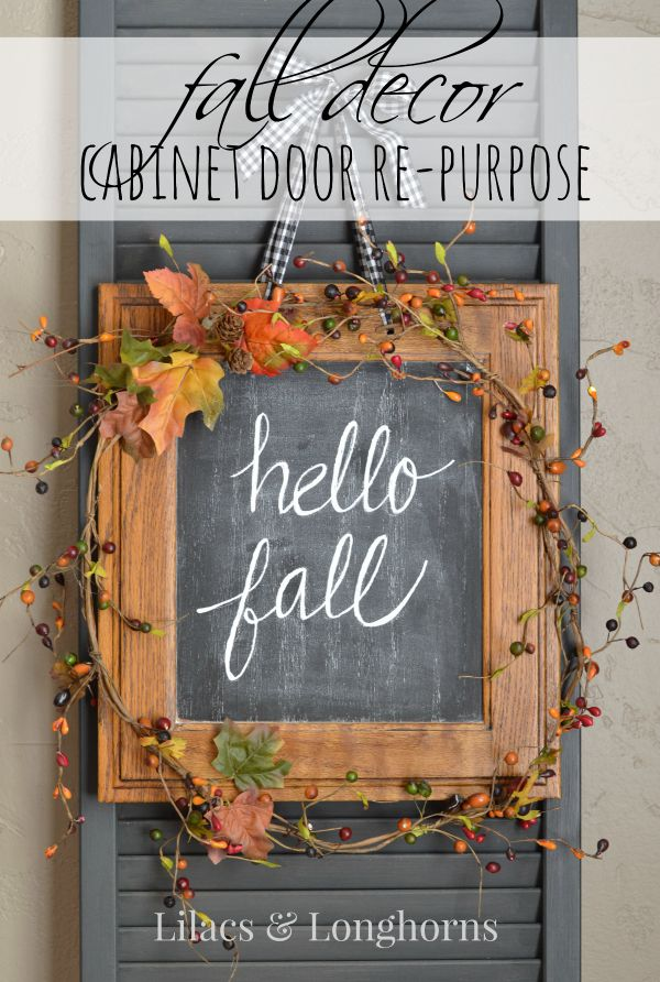 hello fall sign door decor