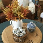 fall coffee table vignette / Lilacs and Longhorns