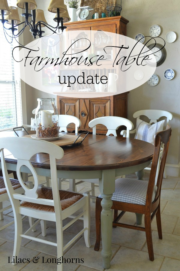 farmhouse table update
