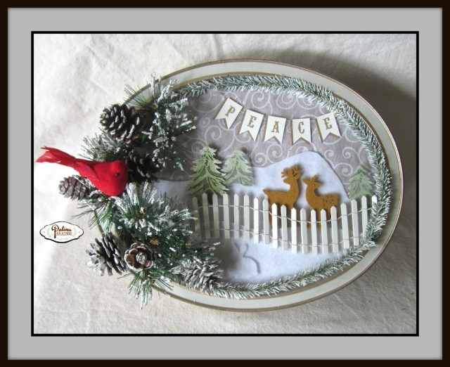 Cookie Tin Turned Winter Wonderland