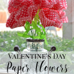Valentine's Day paper flower craft