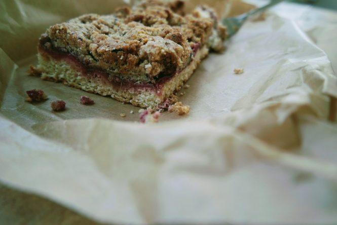 Rhabarber Erdbeer Kuchen