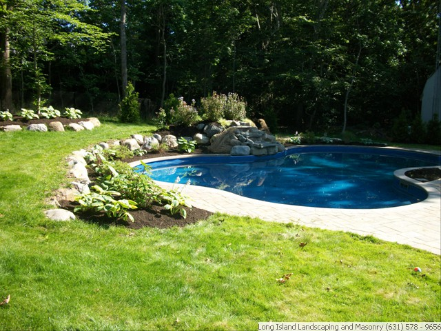 long island pool patios poolscape mason contractors