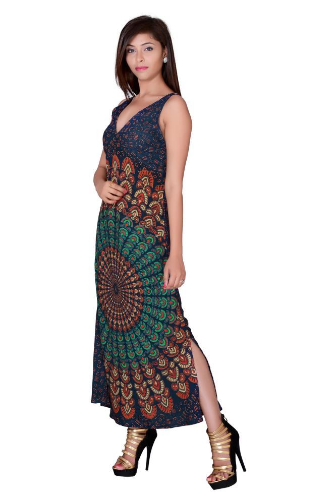 Lilashah Exports Women Maxi Green Dress Buy At
