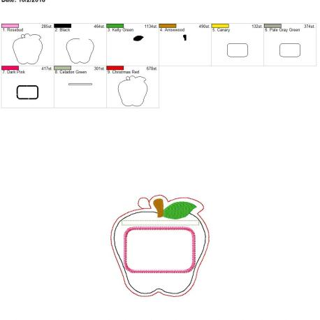 Apple eyelet ID holder 5×7