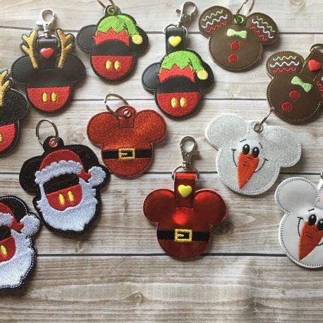 Christmas mouse fobs