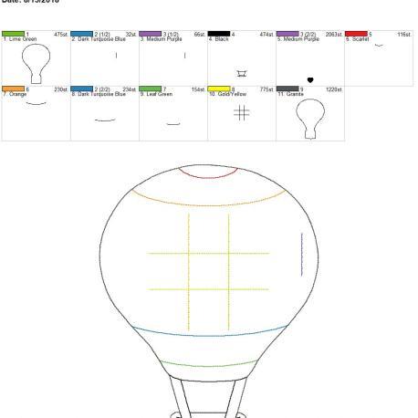 Hot air balloon ttt board 8×12