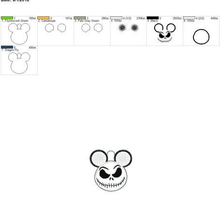 Jack-Mouse-Satin-Eyelet-Fob