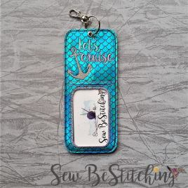 ITH Let's Cruise holder/luggage tag – 5 x 7 – Embroidery Design – DIGITAL Embroidery design