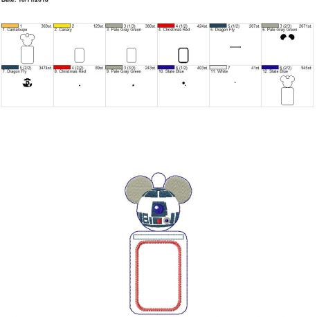 Robot mouse id holder 5×7
