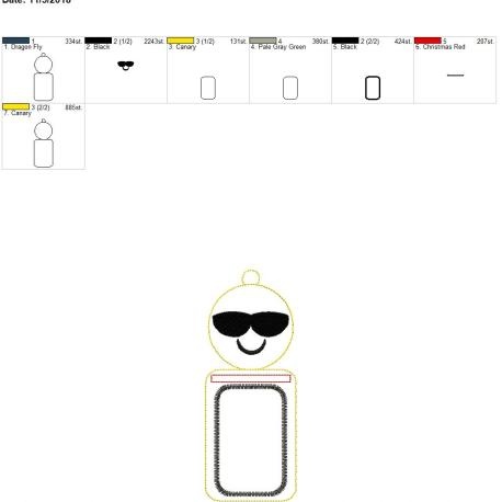 Smiley Cool Shades ID holder 5×7