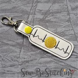 ITH Tennis ekg snap tab Fob 4×4 and 5×7 grouped included- Embroidery Design – DIGITAL Embroidery DESIGN