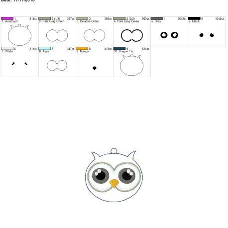 Winter owl ornament 4×4