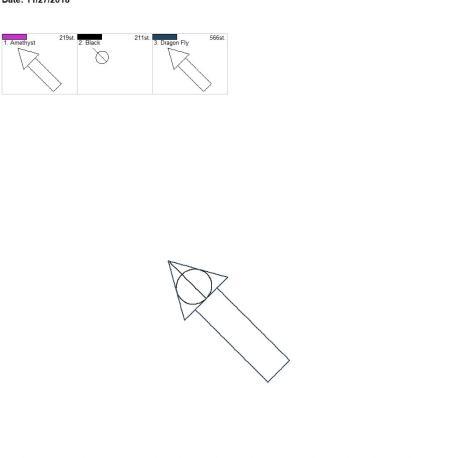 Wizard triangle bookmark 4×4