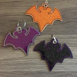 ITH Mouse Bat Key Fob 4×4 and 5×7 included- Embroidery Design – DIGITAL Embroidery DESIGN