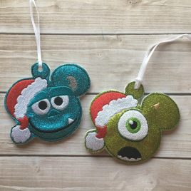 ITH – Best Friend Monster Ornaments 4×4 and 5×7 Grouped