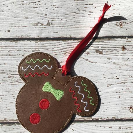 gingerbread mouse ornament