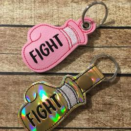 ITH -Fight Boxing Glove Cancer Awareness fobs 4×4 and 5×7 Grouped