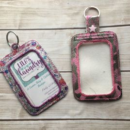 ITH Vertical ID holder or Luggage tag 5×7 hoop size- Embroidery Design – DIGITAL Embroidery design