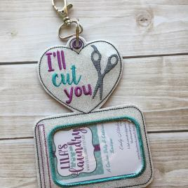ITH – Hair Stylist – I'll cut you- Horizontal ID Holder 5×7 only