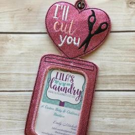 ITH -Hair Stylist- I'll Cut You- Vertical ID Holder 5×7 only
