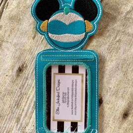 ITH Magical Princess Mouse ID holder/luggage tag – 5 x 7 – Embroidery Design – DIGITAL Embroidery design