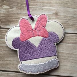 ITH -Duck Girl Mouse Ornament 4×4