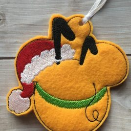 ITH -Pluto Mouse Ornament 4×4