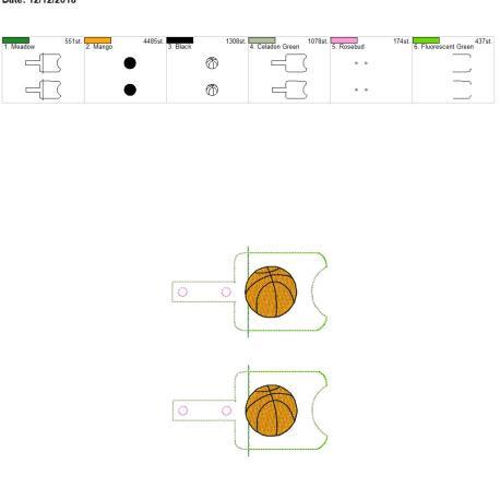 Basketball Sanitizer holder snap tab 5×7 grouped