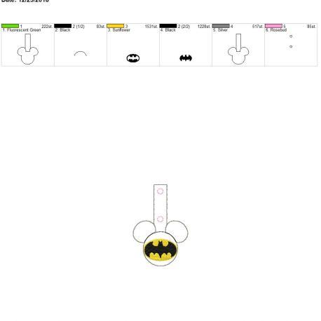 Bat Hero Mouse Fob 4×4