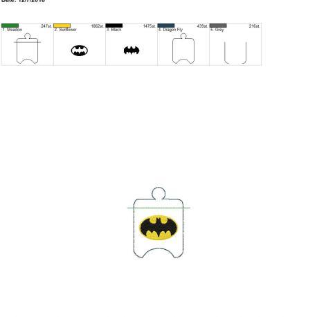 Bat Hero Sanitizer Holder eyelet 4×4