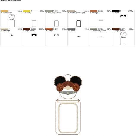 Galaxy Princess Mouse id holder 5×7