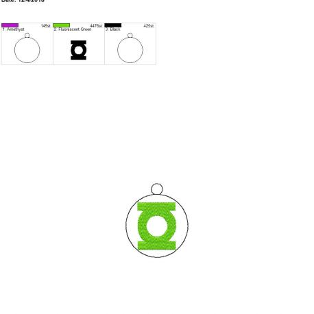 Green Hero Ornament 4×4