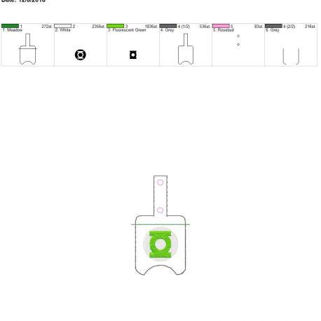 Green Hero Sanitizer holder snap tab 5×7