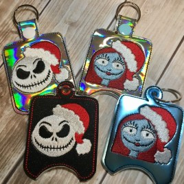 ITH Jack and Sally Sanitizer Holder Set 4×4 and 5×7 included- Embroidery Design – DIGITAL Embroidery DESIGN