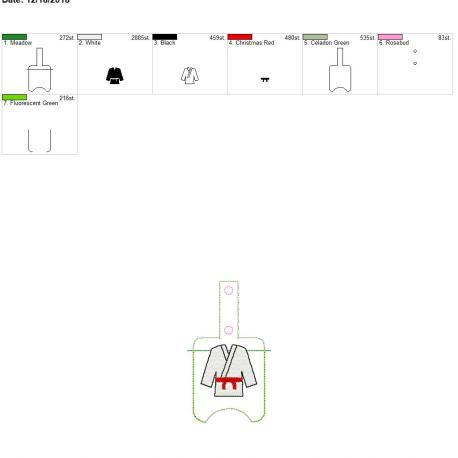Martial Arts Sanitizer holder snap tab 5×7