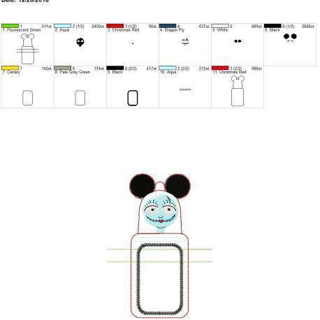 Sally Mouse Ears ID holder 5×7