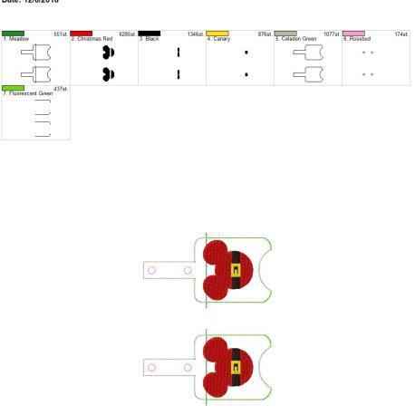 Santa Mouse Sanitizer holder snap tab 5×7 grouped